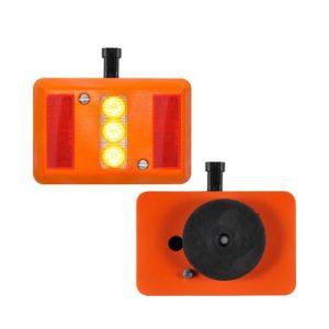 AVTLR01MAG MAGNETIC MOUNT REAR LAMP RED REFLECTORS AND AMBER LEDS