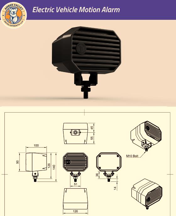 Electric Vehicle Motion Alarm 1