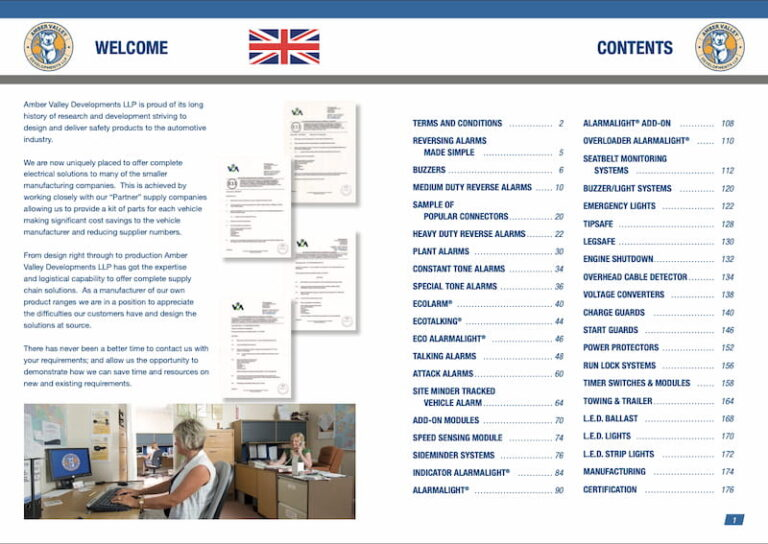 Amber Valley Product Catalogue Pages